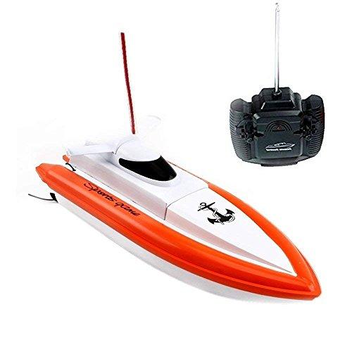 Bateau électrique télécommandé Rabing F1 à grande vitesse pour bateaux RC - rouge (ne fonctionne que dans l'eau)
