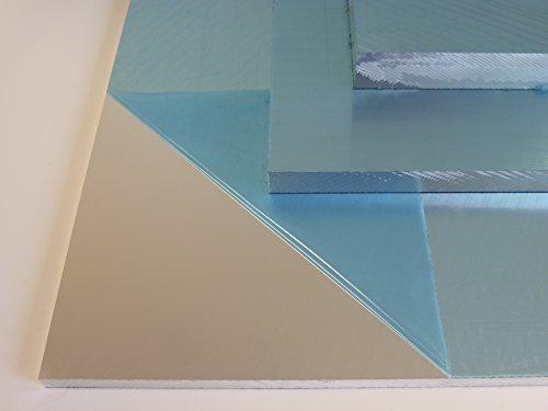 B&T Metall Aluminium Präzisionsgussplatte 10,0 mm stark beidseitig feinstgefräst und foliert im Zuschnitt