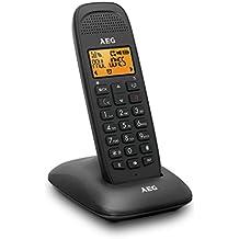AEG Voxtel D81 - Teléfono inalámbrico DECT con altavoz, negro