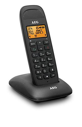"""AEG Voxtel D81 - Schnurloses 1.6\"""" DECT-Telefon mit Freisprecheinrichtung im Mobilteil - Schwarz"""