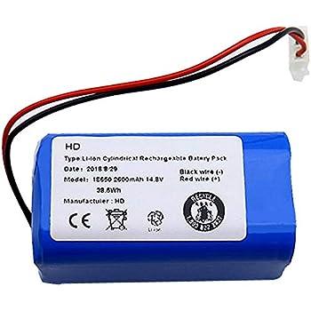 VYNBDA 14.8V Batteria di Ricambio 2800Mah per Aspirapolvere Robot Ilife A4 A4S A6 V7