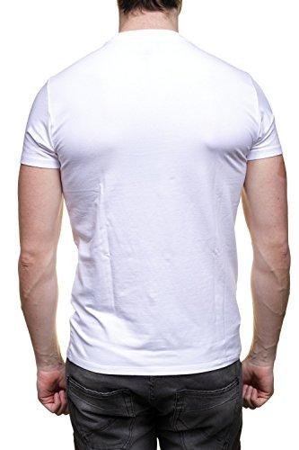 Armani Herren T-Shirt Weiß weiß Weiß