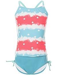 c8c60e118f93f4 DAYU Mädchen Badeanzug Kinder Bikini Pegasus Drucken Badeanzug Bademode  Kinder Beachwear Tankini -6-14