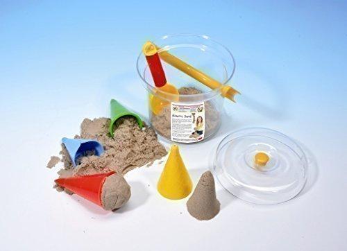 WABA Fun Kinetic Sand - 1kg Eiscreme Set 7tlg. im Eimer mit Deckel