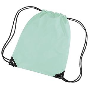 BagBase – Mochila saco o de cuerdas Impermeable/resistente al agua Modelo Premium Deporte/Gimnasio (11 litros) – 34 Colores (Paquete de 2)