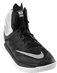 Nike Womens Prime Hype DF II Basketball Shoe Black/White/Reflect Silver Size 10 M US