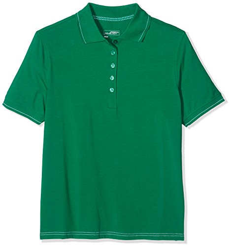 James & Nicholson Elastic, Polo Donna Grün (irish-green/white)