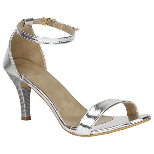 MISTO VAGON WOMEN AND GIRLS PARTY WEAR CASUAL AND FORMAL HEELS SANDALS VJ1209 (36, SILVER)