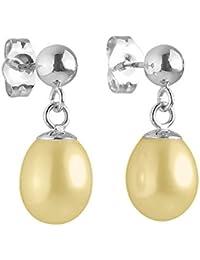 Pearls & Colors - Boucles d'oreilles pendantes - Argent 925 - Perle d'eau douce - PC-BOMC24