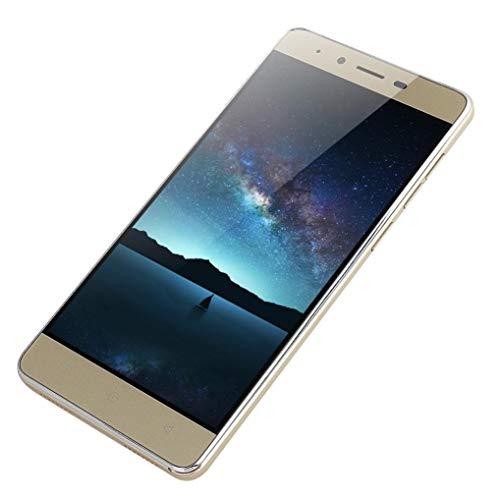 SO-buts Android MATE9 Quad-Core-Smartphone, 5.1-Zoll-Ultra-TN-Bildschirm, Dual-Karte Dual-Standby-Handy, maximale Speicherkapazität 32G, Dual-Kamera WiFi Bluetooth, (Gold)