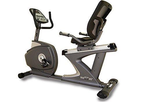Recumbent Ergometer MAXXUS Bike 7.0R. Motor-Magnetbremse, Trainingsprogramme, HRC-Programm, Netz-Rückenlehne, sehr komfortable Sitzposition. Stabiler Stahlrahmen, tiefer Einstieg.