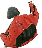 Bomberjacke Damen Herbst Fashion Longsleeve Jacken Elegante Kreuzgurte Party Stil Gedruckt Relaxed Casual College Pilotenjacke Mantel Outerwear Mädchen (Color : Rot, Size : XL)