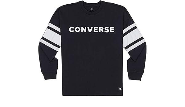 Converse Herren Football Jersey Sportsweatshirt, Schwarz