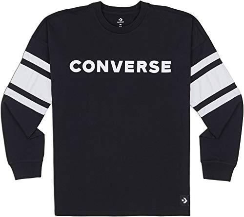 Converse Herren Sportsweatshirt Football Jersey, Schwarz (Black 001), Medium