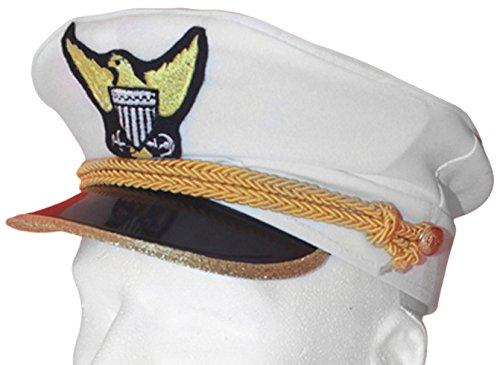 ine Kapitän Admiral Hut für Erwachsene (Navy Admiral Kind Kostüme)