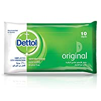 Dettol Original Antibacterial Skin Wipes 10 Count