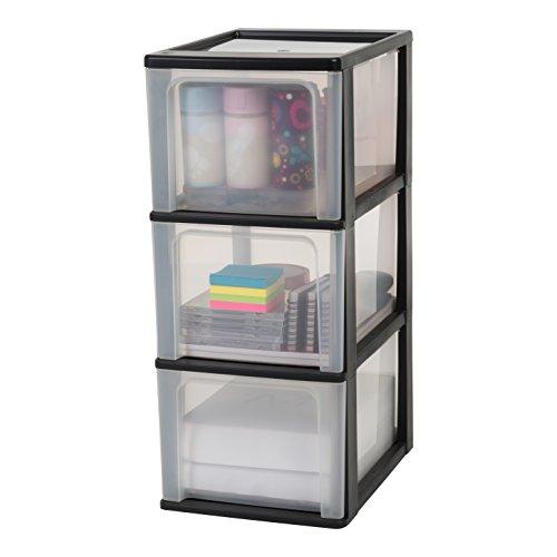 Iris Organizer Chest OCH-2300 Schubladencontainer -/ schrank, Kunststoff, schwarz / transparent, 35,5 x 26 x 60,2 cm -