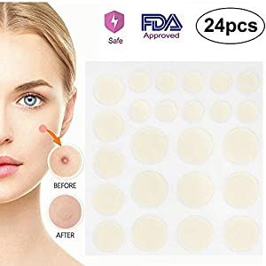 SATC 24H dermopatch Acne Skin Tags Patches Stickers Pimple Master Against Pimples Spots Blemishes Remover 24pcs