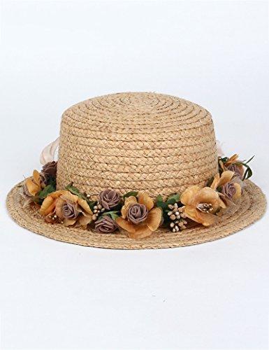 Chapeau de soleil d'été femelle été sauvage Petit chapeau Sunscreen chapeau de soleil Voyage chapeau de paille Pour les voyages de plage sortants ( Couleur : 1 ) 2