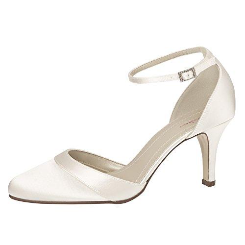 Elsa Coloured Shoes, Scarpe con cinturino alla caviglia donna Bianco (bianco)