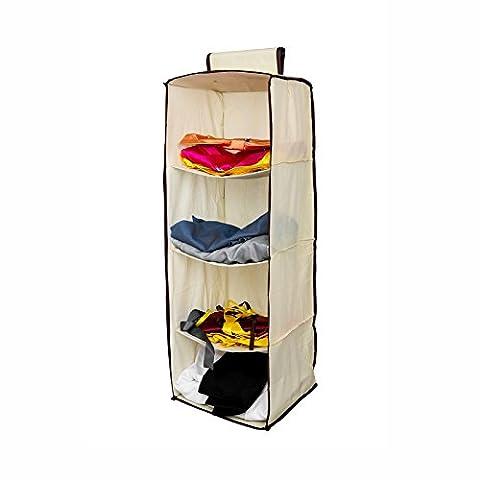Henweit Kleiderschrank Closet Organizer 4Pocket Kleidung Aufhängen Regalen platzsparende Kleiderbügel Stauraum in Schlafzimmer Kinderzimmer (Kleidung Closet Organisation)