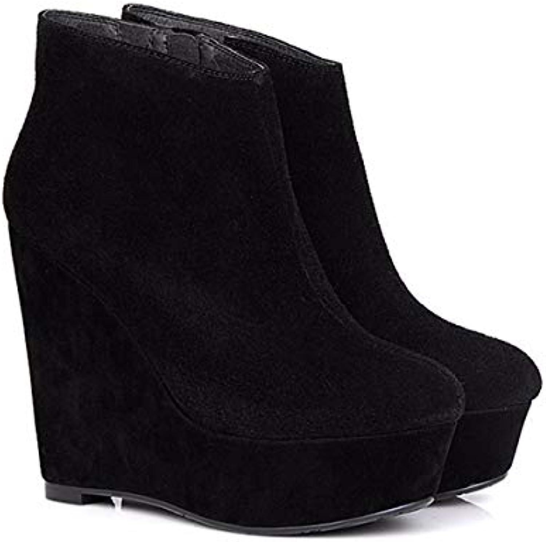 KPHY Chaussures Femmes/Plate - Forme Forme Forme D'Imperméables Talon Haut 12Cm Pente Martin Bottes Super Talons Hauts Épais...B07HP9TPYNParent | Fiable Réputation  61d83e