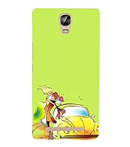 Love Couple 3D Hard Polycarbonate Designer Back Case Cover for Gionee Marathon M5 Plus