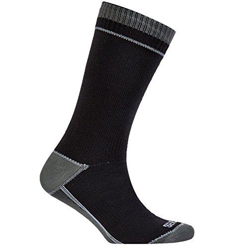 41HrKKzbLAL. SS500  - SealSkinz Unisex Waterproof Thin Mid-length Sealskinz Unisex Sock Thin Mid-Length - Black/Grey, Small