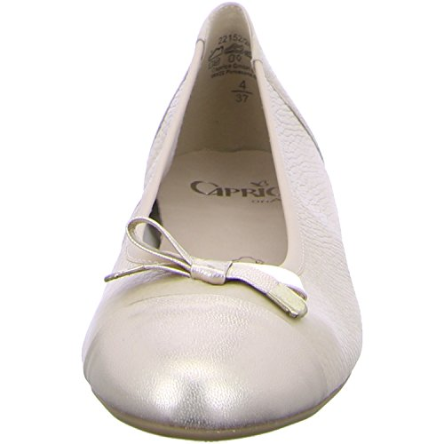 Caprice 22152 Damen Ballerina beige/gold na.