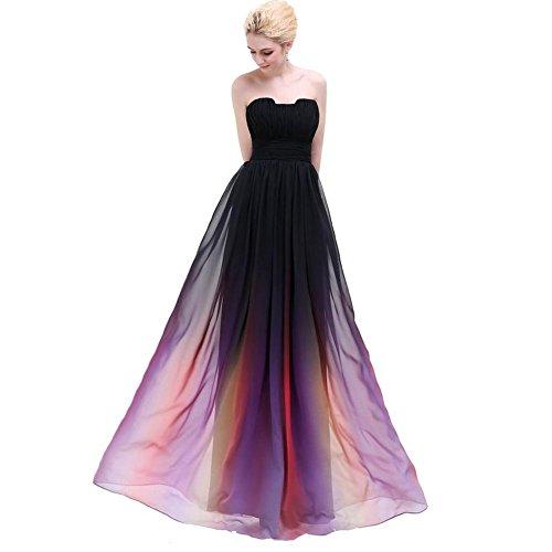 nge geburtstag brautjungfern braut hochzeit prom party chiffon keine straps zipper farbverlauf farbe . picture color . us4 (Brown-bag-puppen Halloween)