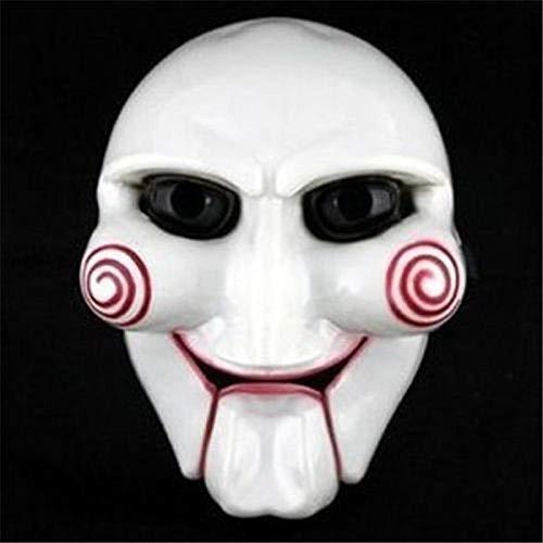 Koreanische Maske Und Kostüm - DWcamellia Masken für Erwachsene Horror Maskerade Maske Karneval Party Cosplay Billy Jiger Elektrische Säge Puppe Maske Kostüm Kostüm P