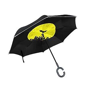 ISAOA Paraguas grande invertido resistente