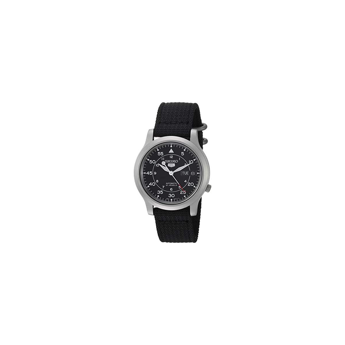 41HrLzfaJhL. SS1200  - Seiko SNK809 - Reloj de Pulsera para Hombre, Negro/Negro