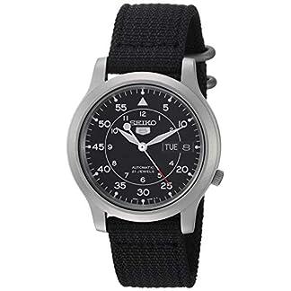 Seiko SNK809 – Reloj de Pulsera para Hombre, Negro/Negro