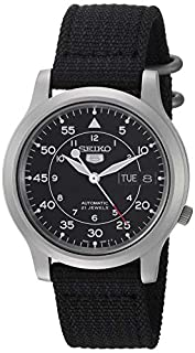 Seiko 5 Men's Automatic Watch with Black Dial Analogue Display and Black Fabric Strap SNK809K2 (B002SSUQFG)   Amazon price tracker / tracking, Amazon price history charts, Amazon price watches, Amazon price drop alerts