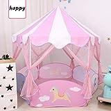 YJYRCYJLH Tente Princesse Maison de Jeux pour Enfants Roses, Paillettes Paillettes...