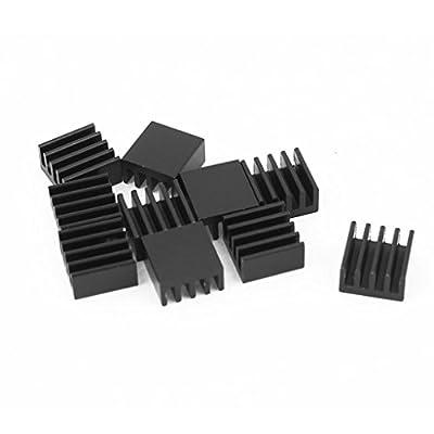 10pcs Schwarz Kühlkörper für StepStick A4988 Chip IC Wärmeleitkleber 8.8 * 8.8 * 5mm