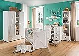 lifestyle4living Babyzimmer Komplett-Set in weiß, modernes 4-TLG. Kinderzimmer für Jungen und Mädchen im Landhaus-Stil