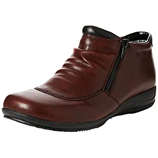 Rieker Women's L3691 Ankle Boots, Red (Vino/Schwarz 35), 5 UK