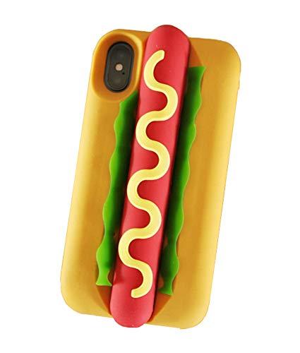 unnfiko 3D Cute Cookie Case kompatibel mit iPhone 7Plus/iPhone 8Plus, Creative Cool Fun Soft Gel Gummi Silikon Schutz Case Cover iPhone 7/8 Hot Dog