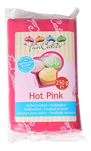 FunCakes Pasta di Zucchero, Rosa Acceso, 250 grammi