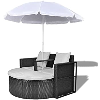 TecTake Canapé de jardin chaise longue bain de soleil en ...