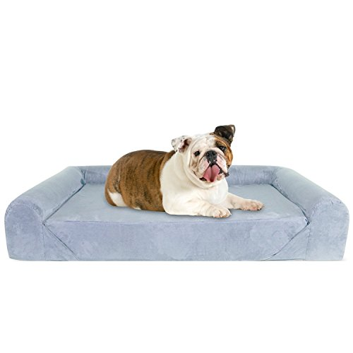 KOPEKS Deluxe - Sofá cama ortopédico de espuma viscoelástica, tamaño grande, color gris