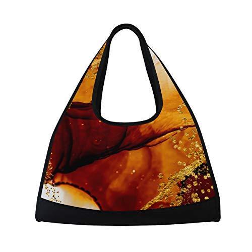 NISENASU Sporttasche,Unique Kreativität Artgold Inspiriert von Sky,Neue Sport Reisetaschen Tennisschläger Rucksack Badminton Kurze Reisetaschen tragbare Umhängetasche (20 × 6.7 × 18.5 in) -