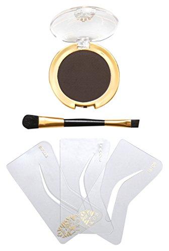Ikos Augenbrauen-Formliner Set für braun bis schwarzhaarig, 1er Pack (1 x 3 - 1 Schablone Richtung