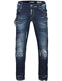 Cipo & Baxx Herren Jeans / Straight Fit Jeans Nankin