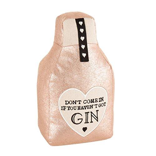 Dibor Türstopper aus Plüsch, Motiv Gin Flasche, mit gesticktem Herzmotiv, 1,1 kg - Motiv Bad Hardware