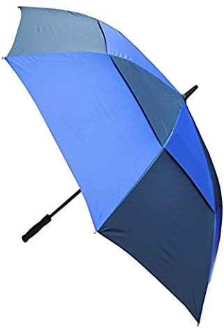COLLAR AND CUFFS LONDON - Windproof EXTRA STRONG - StormDefender XL - Golf Umbrella - Vented Canopy - HIGHLY ENGINEERED TO COMBAT INVERSION DAMAGE - Automatic Open - Large - Royal and Navy