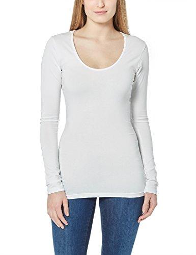 Berydale Damen Langarmshirt mit Rundhalsausschnitt, Gr. Small, Weiß (Rundhalsausschnitt Damen-langarmshirt Mit)