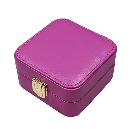BFzhang Ohrring Aufbewahrungsbox Einfache Kirsche PU Schmuckschatulle Tragbare Schmuck Aufbewahrungsbox@Liebe -